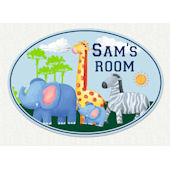 Jungle Animals Custom Name Wall Decal