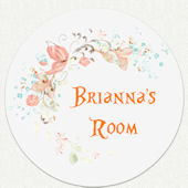 Disney Princess Flower Name Custom Room Wall Decal
