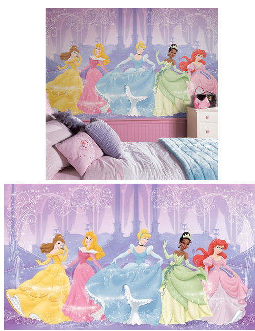 Perfect Princess XL Wall Mural 6 x10.5 ft - Kids Wall Decor Store