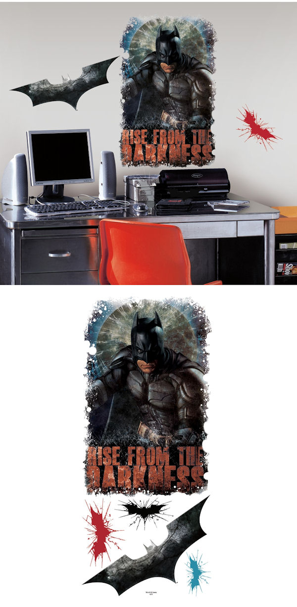 Batman dark knight rises darknes giant wall decals for Dark knight rises wall mural