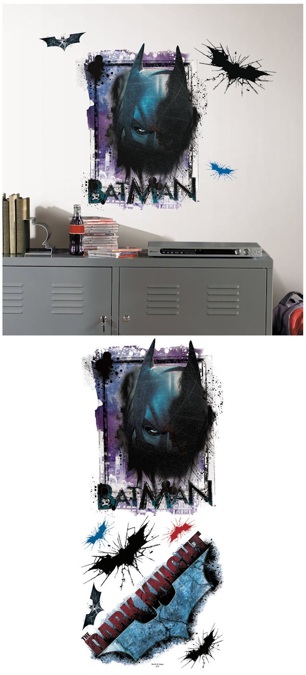 Batman dark knight rises shadow wall decals sale for Dark knight rises wall mural