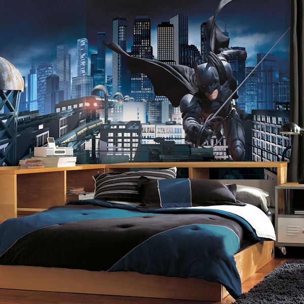 Batman dark knight xl wall mural for Batman wall mural decal