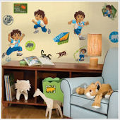 Go Diego Go Peel and Stick Wall Stickers