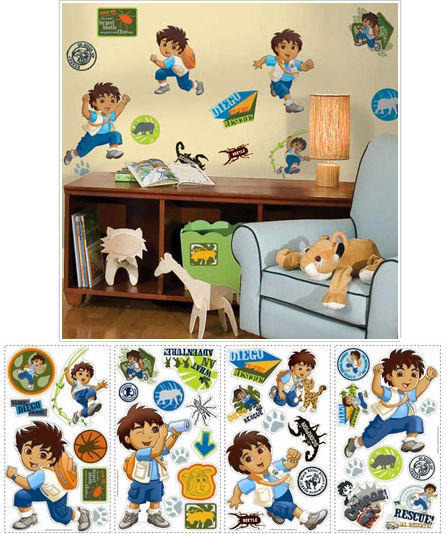 Go Diego Go Peel and Stick Wall Stickers SA:E - Wall Sticker Outlet