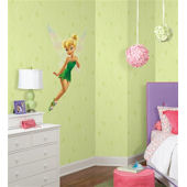 Disney Fairies Green Stripe Wallpaper