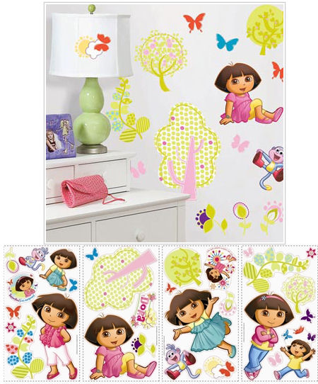 Dora the Explorer Peel and Stick Wall Stickers - Wall Sticker Outlet