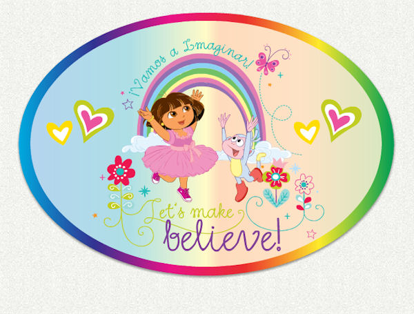 Dora the explorer make believe wall decal for Dora the explorer wall mural