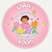 Dora the Explorer Custom Flower Friends Wall Decal