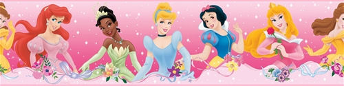 Disney Princess Dream From the Heart Pink Border - Wall Sticker Outlet