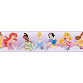 Disney Princess Dream From the Heart Purple Border