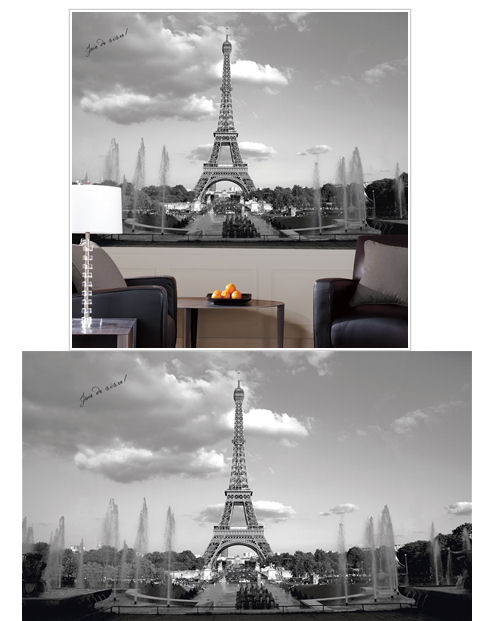 Eiffel Tower XL Wall Mural - Wall Sticker Outlet