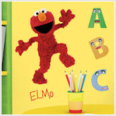 Sesame Street Elmo Giant Wall Sticker