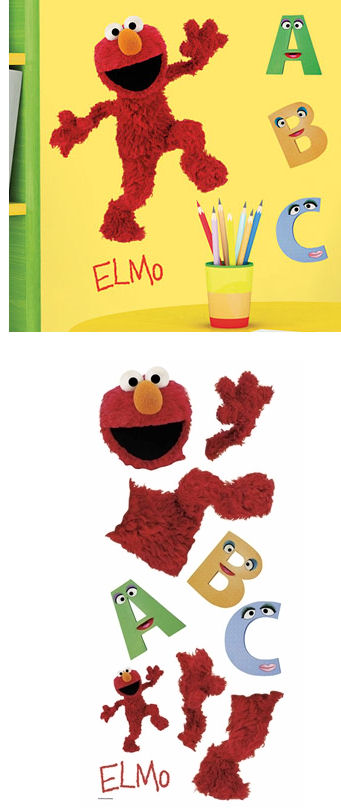 Sesame Street Elmo Giant Wall Sticker - Wall Sticker Outlet