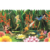 Fairies and Lily Pads Wallpaper Border