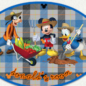 Disney Farmer Mickey Custom Name Wall Decal