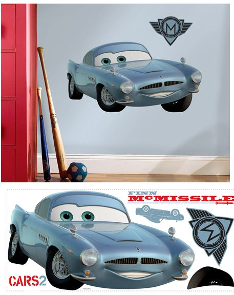 Cars 2 Finn McMissile Giant Wall Sticker - Wall Sticker Outlet