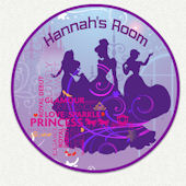 Glamour Princess Custom Name Wall Decal