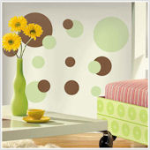 Green and Brown Peel and Stick Wall Dots