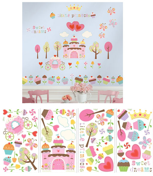 Happi Cupcake Land Peel and Stick Wall Decals - Kids Wall Decor Store