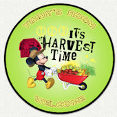 Disney Mickey Harvest Time Custom Wall Decal