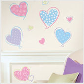 Hearts Peel and Stick Wall Stickers