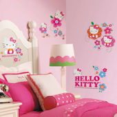 Hello Kitty Floral Boutique Wall Decals