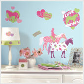 Horse Crazy Peel and Stick Wall Decals