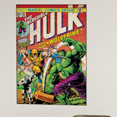 Hulk and Wolverine Comic Book Cover Sticker  SALE