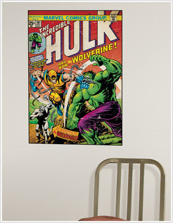 Hulk and Wolverine Comic Book Cover Sticker  SALE - Wall Sticker Outlet