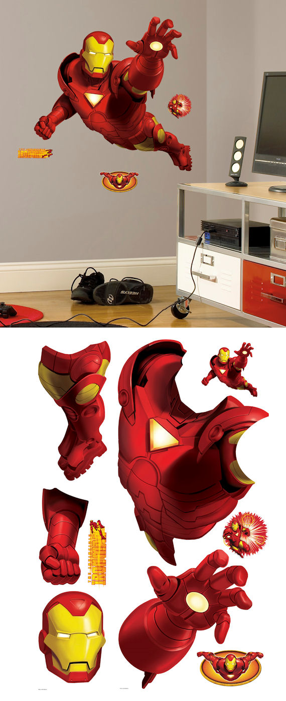 Iron Man Giant Wall Sticker - Wall Sticker Outlet
