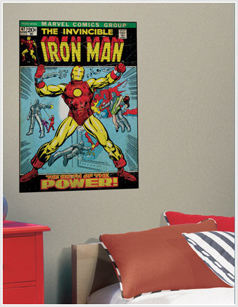 Iron Man Comic Book Cover Sticker - Wall Sticker Outlet