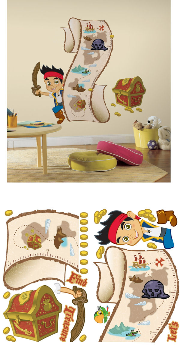 Jake and the Never Land Pirates Growth Chart - Wall Sticker Outlet