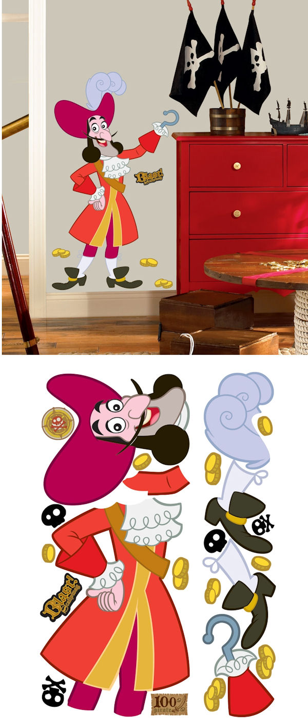Jake and the Never Land Pirates Captain Hook Decal - Wall Sticker Outlet