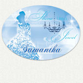 Disney Princess Jewel Custom Name Wall Decal