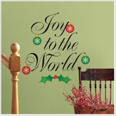 Joy to The World Giant Wall Decal