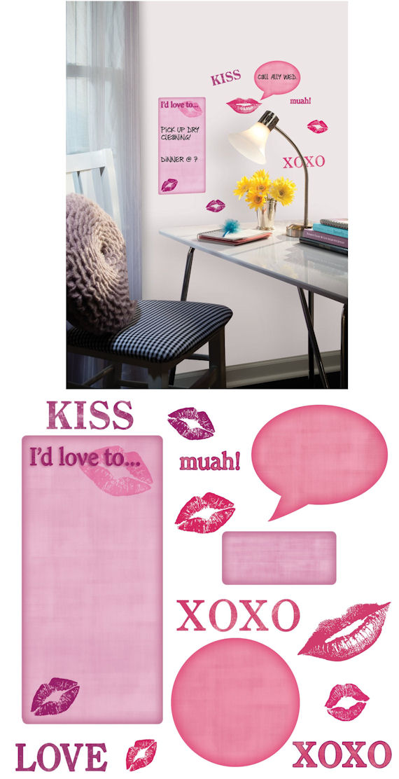 Kisses Peel and Stick Wall Decal SALE - Wall Sticker Outlet