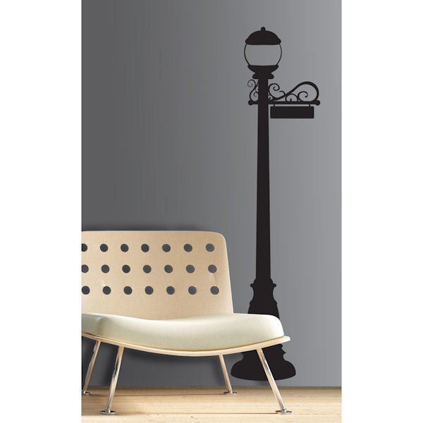 lamp post giant wall decal wall sticker outlet. Black Bedroom Furniture Sets. Home Design Ideas