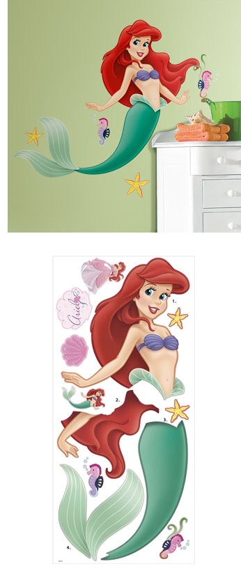 The Little Mermaid Giant Wall Sticker - Wall Sticker Outlet