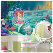 Little Mermaid Ariel Giant XL Wall Mural 10.5 x 6