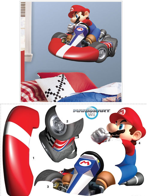 Mario Kart Wii Giant Wall Sticker - Wall Sticker Outlet
