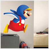 New Super Mario Bros Wii Penguin Sticker SALE