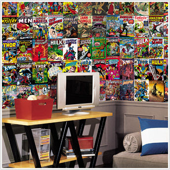 Marvel Comic Book XL Chair Rail Wall Mural 6 x 10 - Wall Sticker Outlet