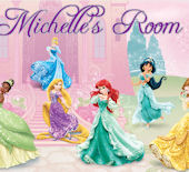 Disney Princess Garden Custom Name Wall Decal