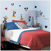 Mickey and Friends Peel and Stick Wall Appliques