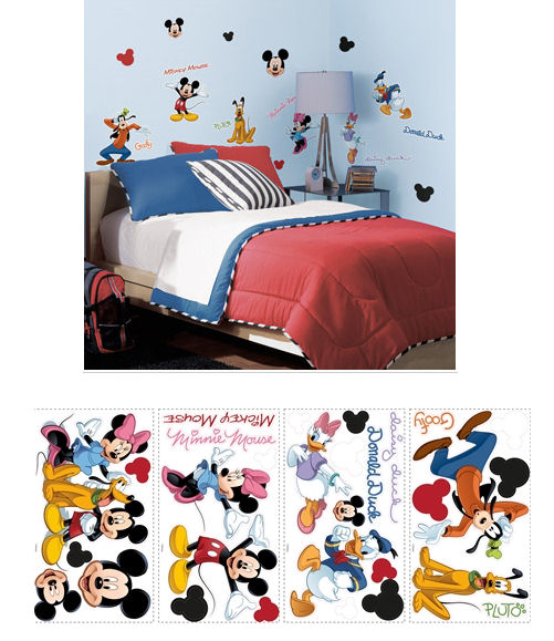 Mickey and Friends Peel and Stick Wall Appliques - Wall Sticker Outlet