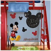 Mickey Mouse Peel and Stick Chalkboard Mural