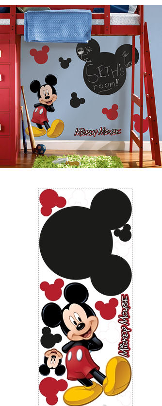 Mickey Mouse Peel and Stick Chalkboard Mural - Wall Sticker Outlet