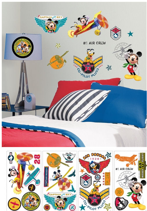 Disney Mickey Mouse Clubhouse Pilot Wall Stickers - Wall Sticker Outlet