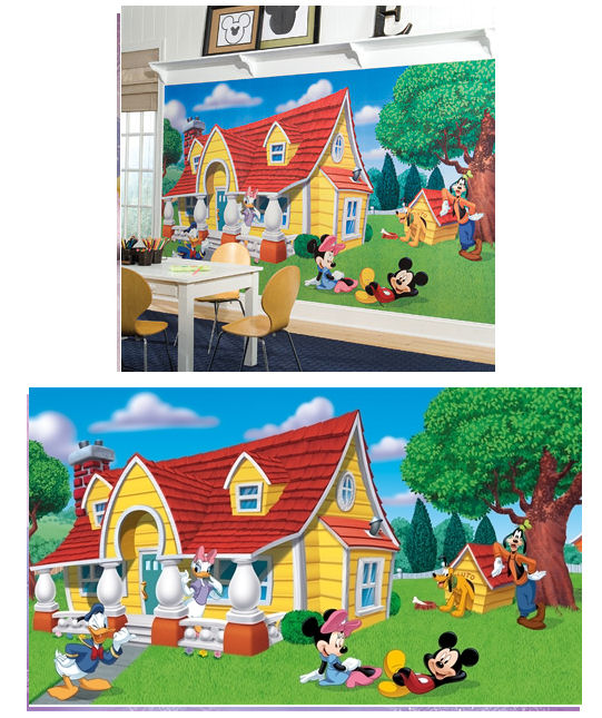 Mickey and Friends XL Wall Mural 10.5 x 6 Feet - Wall Sticker Outlet