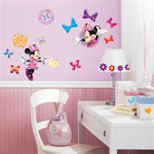 Disney Minnie Mouse Bow Tique Wall Stickers